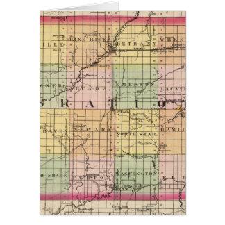 Mapa del condado de Gratiot, Michigan Felicitacion