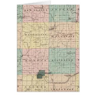 Mapa del condado de Green, estado de Wisconsin Tarjeta