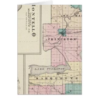Mapa del condado de Green Lake, estado de Wisconsi Tarjeton