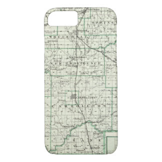 Mapa del condado de Green y de Carrollton Funda iPhone 7