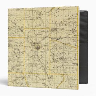 """Mapa del condado de Hamilton Carpeta 1 1/2"""""""