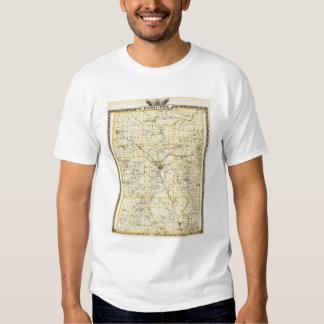 Mapa del condado de Hamilton Playera