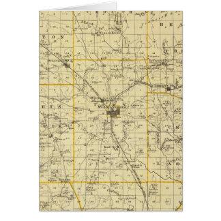 Mapa del condado de Hamilton Tarjeta De Felicitación