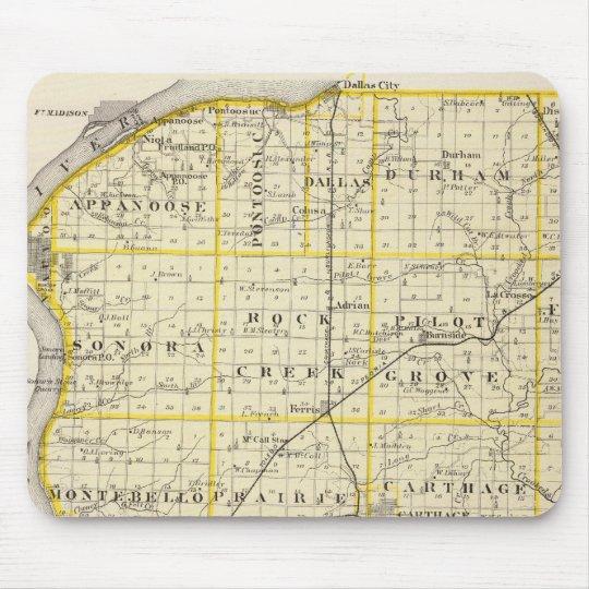 Mapa del condado de Hancock Mousepad