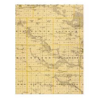 Mapa del condado de Hardin, estado de Iowa Tarjetas Postales
