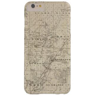 Mapa del condado de Harrison, estado de Iowa Funda De iPhone 6 Plus Barely There