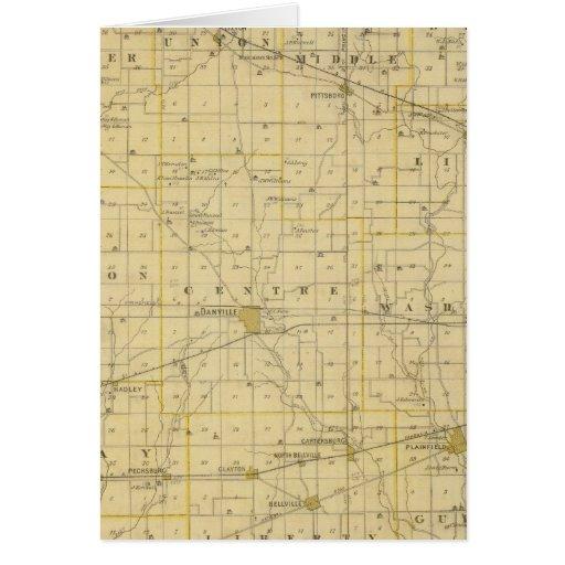 Mapa del condado de Hendricks Felicitacion