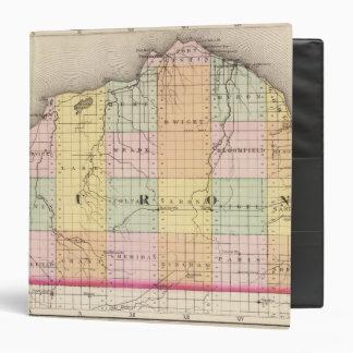 """Mapa del condado de Huron, Michigan Carpeta 1 1/2"""""""