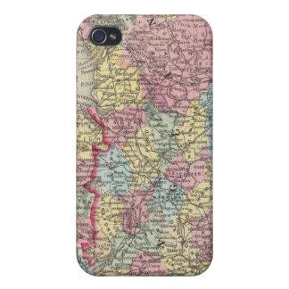 Mapa del condado de Inglaterra, y de País de Gales iPhone 4 Fundas