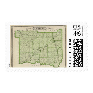 Mapa del condado de Jackson