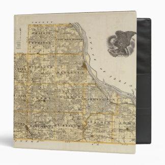"""Mapa del condado de Jackson 2 Carpeta 1 1/2"""""""