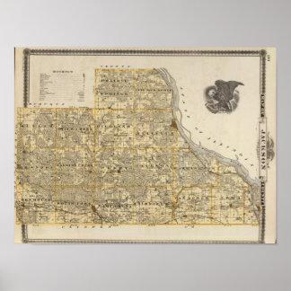 Mapa del condado de Jackson 2 Póster