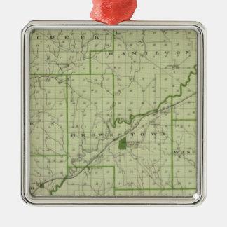 Mapa del condado de Jackson Adornos De Navidad
