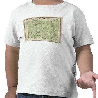 Mapa del condado de Jackson Camisetas