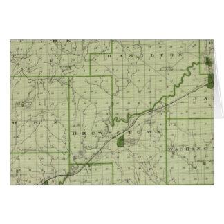 Mapa del condado de Jackson Felicitaciones