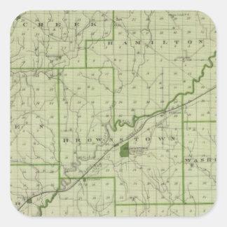 Mapa del condado de Jackson Colcomanias Cuadradases