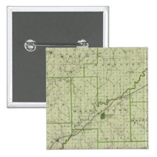 Mapa del condado de Jackson Pin Cuadrada 5 Cm