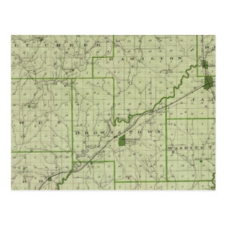 Mapa del condado de Jackson Postal