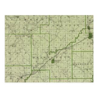 Mapa del condado de Jackson Tarjetas Postales