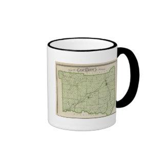 Mapa del condado de Jackson Tazas De Café