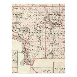 Mapa del condado de Jackson, torre magnífica Tarjetas Postales