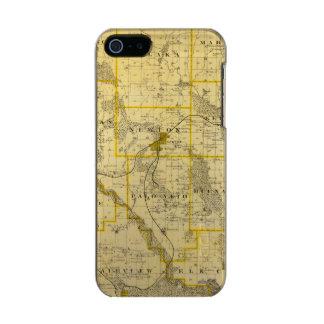 Mapa del condado de Jasper, estado de Iowa Carcasa De Iphone 5 Incipio Feather Shine
