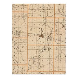 Mapa del condado de Jay Tarjetas Postales