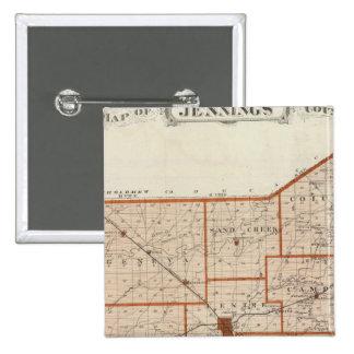 Mapa del condado de Jennings Pin