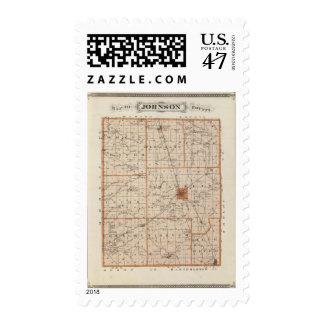 Mapa del condado de Johnson Sello Postal