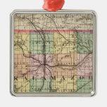 Mapa del condado de Kalamazoo, Michigan Adorno