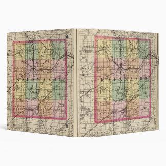 "Mapa del condado de Kalamazoo, Michigan Carpeta 1 1/2"""