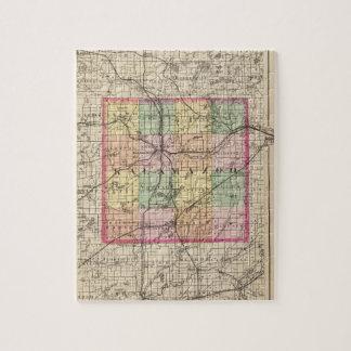 Mapa del condado de Kalamazoo, Michigan Puzzle