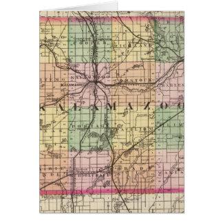 Mapa del condado de Kalamazoo Michigan Tarjeta