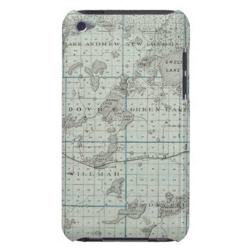 Mapa del condado de Kandiyohi, Minnesota iPod Touch Case-Mate Carcasa