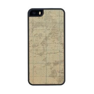 Mapa del condado de Kandiyohi, Minnesota Funda De Arce Carved® Para iPhone 5