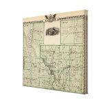 Mapa del condado de Kankakee, de Kankakee y de Gil Lona Envuelta Para Galerias