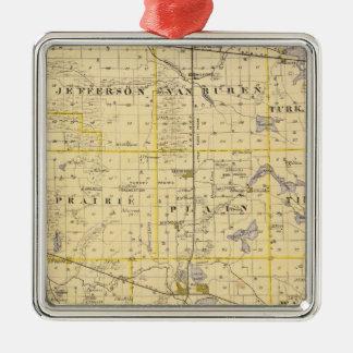 Mapa del condado de Kosciusko Ornamentos De Navidad