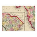 Mapa del condado de la Florida Postales