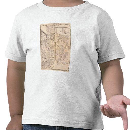 Mapa del condado de Lake con Lowell Camisetas