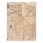 Mapa del condado de Lake con Lowell Postal