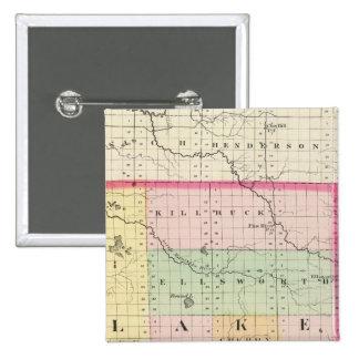 Mapa del condado de Lake, Michigan Pins