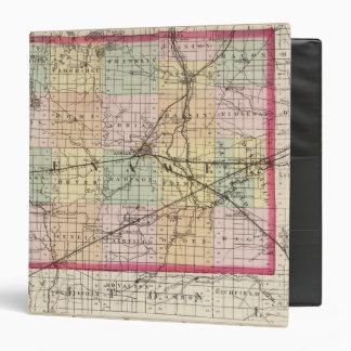 """Mapa del condado de Lenawee, Michigan Carpeta 1 1/2"""""""