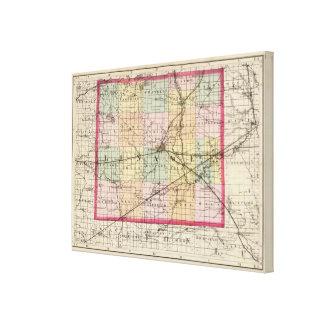 Mapa del condado de Lenawee, Michigan Impresiones En Lona