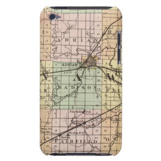 Mapa del condado de Lenawee, Michigan iPod Touch Case-Mate Cárcasa