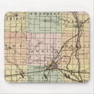 Mapa del condado de Lenawee, Michigan Tapete De Raton