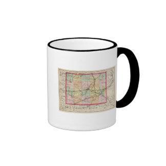 Mapa del condado de Lenawee, Michigan Taza De Dos Colores