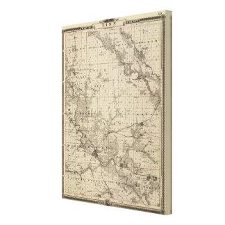Mapa del condado de Linn, estado de Iowa Lona Estirada Galerias