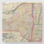 Mapa del condado de los estados de Nueva York Posavasos De Piedra