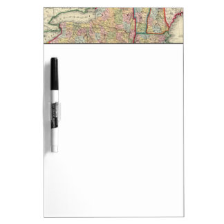 Mapa del condado de los estados de Nueva York Tablero Blanco
