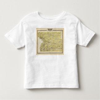 Mapa del condado de Madison Camisetas
